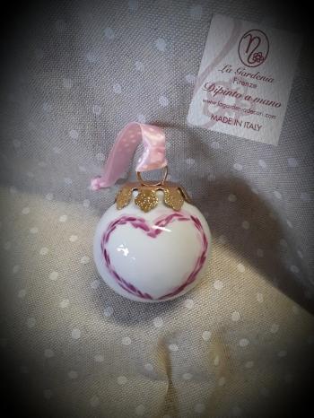 Palla cuore rosa 5 cm