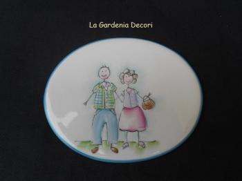 targa decorativa coi nonni