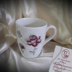 Mug rose stilizzate