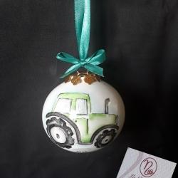 Palla di Natale con trattore
