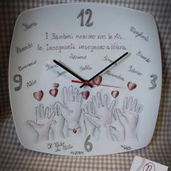 Orologio mani e cuori