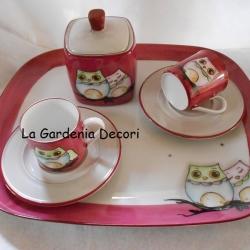 Set Caffe' porpora Gufetti