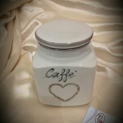 Barattolo caffè cuore shabby