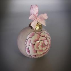 Palla di Natale  fiore rosa