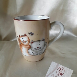 Tazza mug coppia gatti