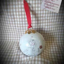 Palla di Natale ragazza e rosa