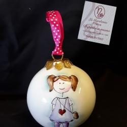Palla di Natale bimba con codine