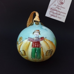 Palla di Natale campagna toscana