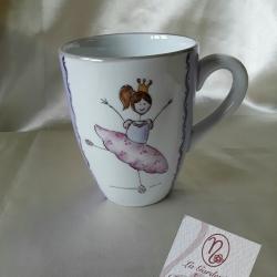 Tazza mug lilla ballerina